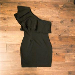 Windsor   Black One Shoulder Dress